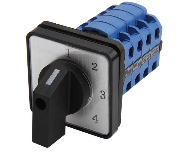 LW26-20/4 1-2-3-4 Panel Mount 20A 4 poles 4 position control motor circuit Universal changeover rotary cam switch