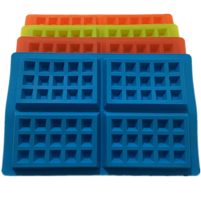 Ny 4-Cavity Waffle Mould Shape Mad Grade Plastic, Cake Chocolate Pan, Silicone Mould Bage Mould Køkken Bageri Decorationg