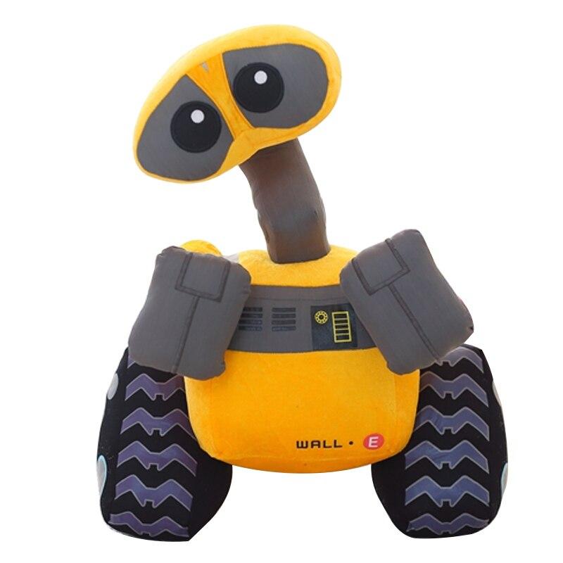 1 Pc 25 Cm Heißer Verkauf Gefüllte Cartoon Roboter Wall. E Plüsch Spielzeug Geburtstag Spielzeug Für Kinder Geschenke Durchsichtig In Sicht