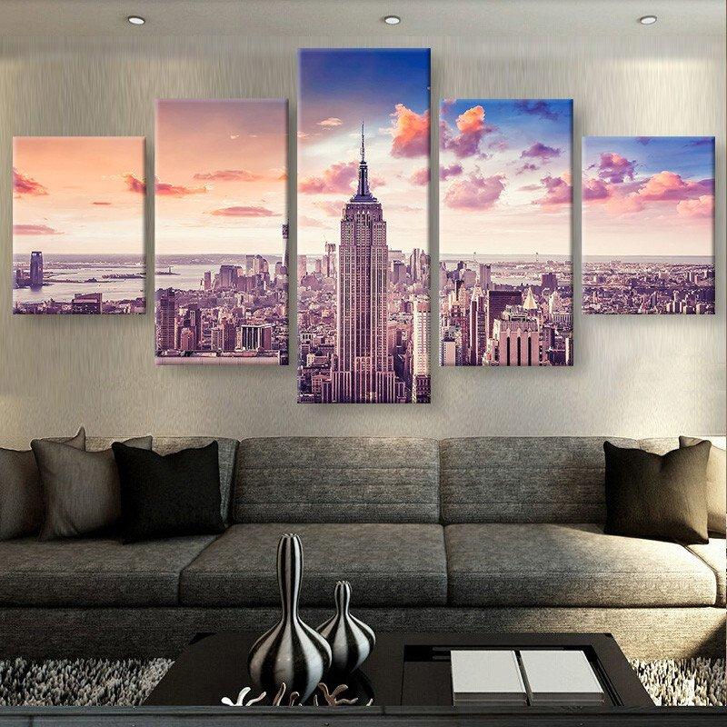 Artryst 5 kusů moderní HD tisk obrázků plakát říše budova krajina plátno freska umění domácí dekorace zeď umělecká díla ZJ3631