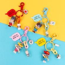 New Arale Japanese Key Chain Cartoon Model Miniature PVC Action Figures Anime Dr slump Mini Dolls Figurines Keyring Kids Toys 14pcs lot japanese anime cartoon chibi maruko chan sakura momoko happy family pvc action figures toys dolls for gift