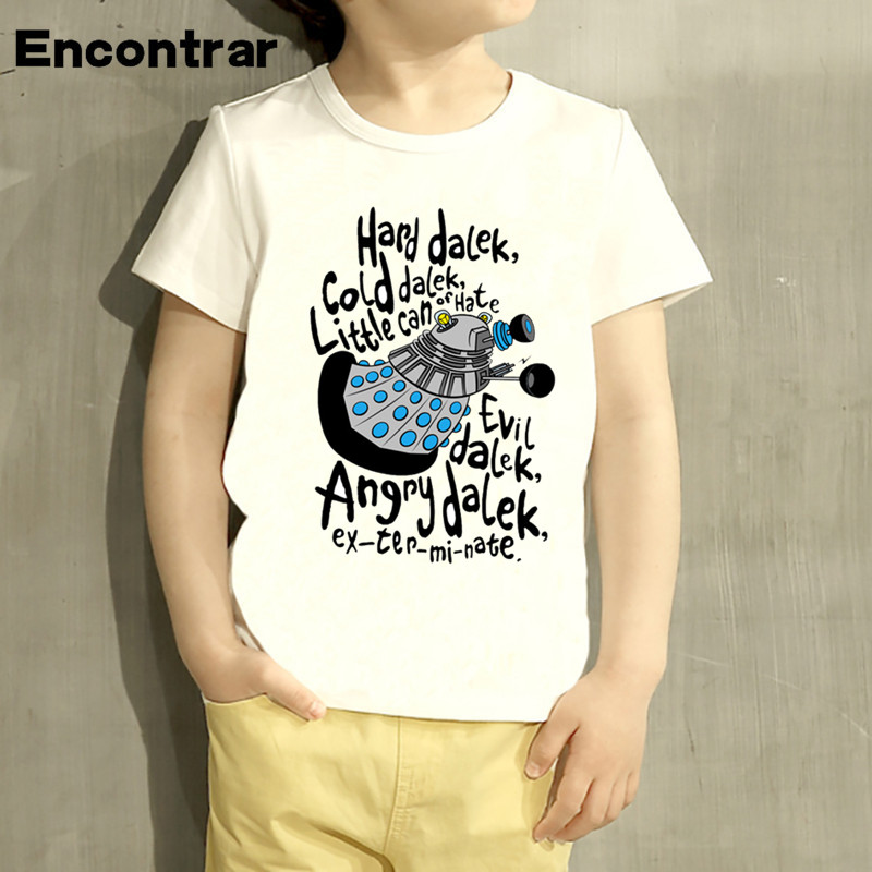 Kids Doctor Who Letter Design TShirt Boys/Girls Great Casual Short Sleeve Tops Children Cute T-Shirt,HKP5073