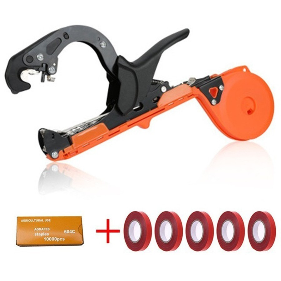 Garden Tool Plant Tying Tapener Tape Machine Hand Tools Tying Vine Branch Machine Tied Twig Gun Strapping Vegetable Grape Stem(China)