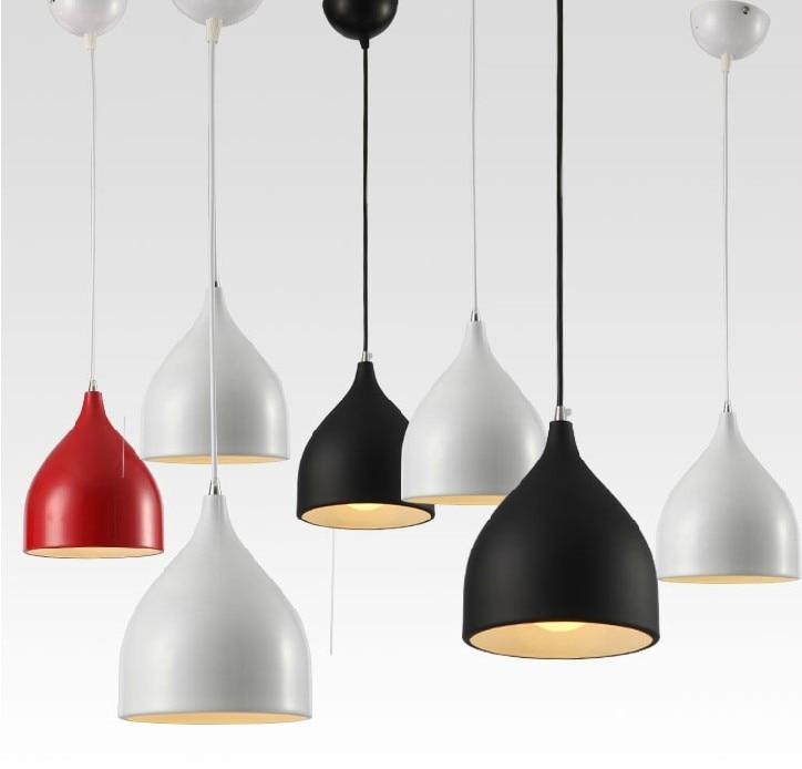 Elegant Modern Dining Room Aluminum Pendant Light,bar Pendant Lamps,E27 Led Lighting  17cm Diameter Red/Black/White For Choice In Pendant Lights From Lights ...