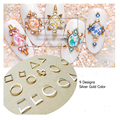 HS01-09 10pcs/lot Silver Gold Cute Long Triangle Metal Sticker 9 Designs for Nail Art Decoration Non-adhesive Sticker 2015 Hot