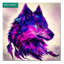 Diamond mosaic full 5D Diy Embroidery sale Cross Stitch Kits square Painting Vicious expression of the wolf head