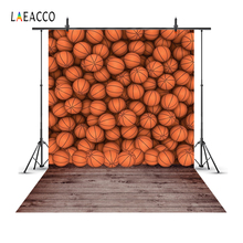 Laeacco Basketball Wall Wooden Floor Sports Portrait Photography Backgrounds Customized Photographic Backdrops For Photo Studio