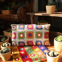 Crochet Long Cushions For Sofas Retro Country Patio Garden Chair Pillows Large Floor Sofa Cushions Bench Seat Cuscini Decorativi