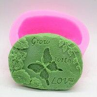 Bán buôn!!! 1 cái Phát Triển với Tình Yêu (C512) Handmade Soap Khuôn Thủ Công DIY Silicone Khuôn Mẫu