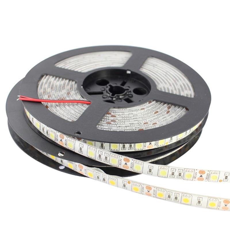 RF Trådløs Dimmbar LED Strip Light Kit 12V DC 5M 300 SMD 5050 LED - LED-belysning - Bilde 2