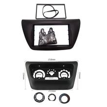 Doppio Din Autoradio Plancia per il 2006 Mitsubishi Lancer IX Aftermarket Stereo Kit Dash DVD Telaio + Centro AC di controllo