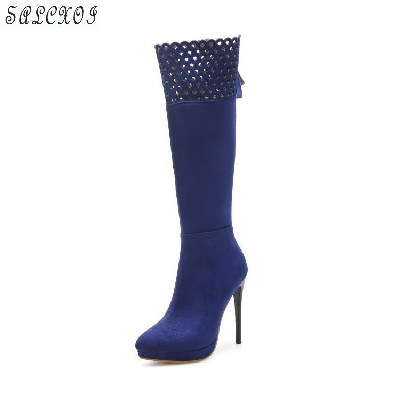 Salcxoi winter Boots Women spring and autumn Thigh High Boots red Over The Knee Boots size33 Shoes Fashion Woman Shoe Woman &971 2017 women thigh high boots over the knee motorcycle boots winter and autumn woman shoes plus size 4 5 10 5women s boots