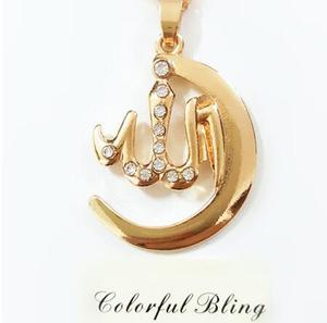 Image 3 - Nova moda allah islam lua crescente muçulmano pingente colar para mulher árabe oriente médio religião jóias