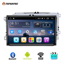 hot deal buy topsource car multimedia player android 2 din gps 9 inch wifi car radio 800 x 480 mirror link touch screen for vw 1g 16g vw9001