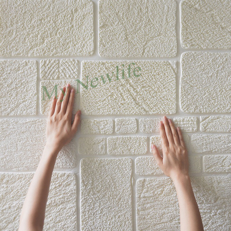 Selfadhensive 3D Brick tile Wall Stickers home Decor Foam Waterproof Wall Covering Wallpaper TV Background Kids Room 70*70cm