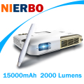 NIERBO 1080P Projector Interactive Education Home Theater Video Projector 15000mAh Battery 2000 Lumen Android Bluetooth Wireless