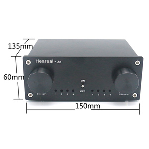 Image 2 - Lusya 4 Input 4 Output Lossless Audio Signal Switcher Switch Splitter Selector DC 12V E4 003