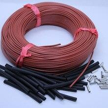 12K теплый пол из углеродного волокна нагревательный провод электрический горячей линии Инфракрасный нагревательный кабель 220 В