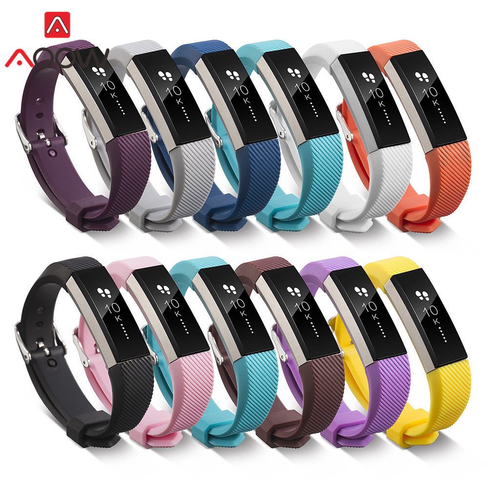 S/L Silicone Watchband For Fitbit Alta/ Alta HR Smart Watch Fitness Sport Waterproof Replacement Bracelet Band Strap 16 Colors