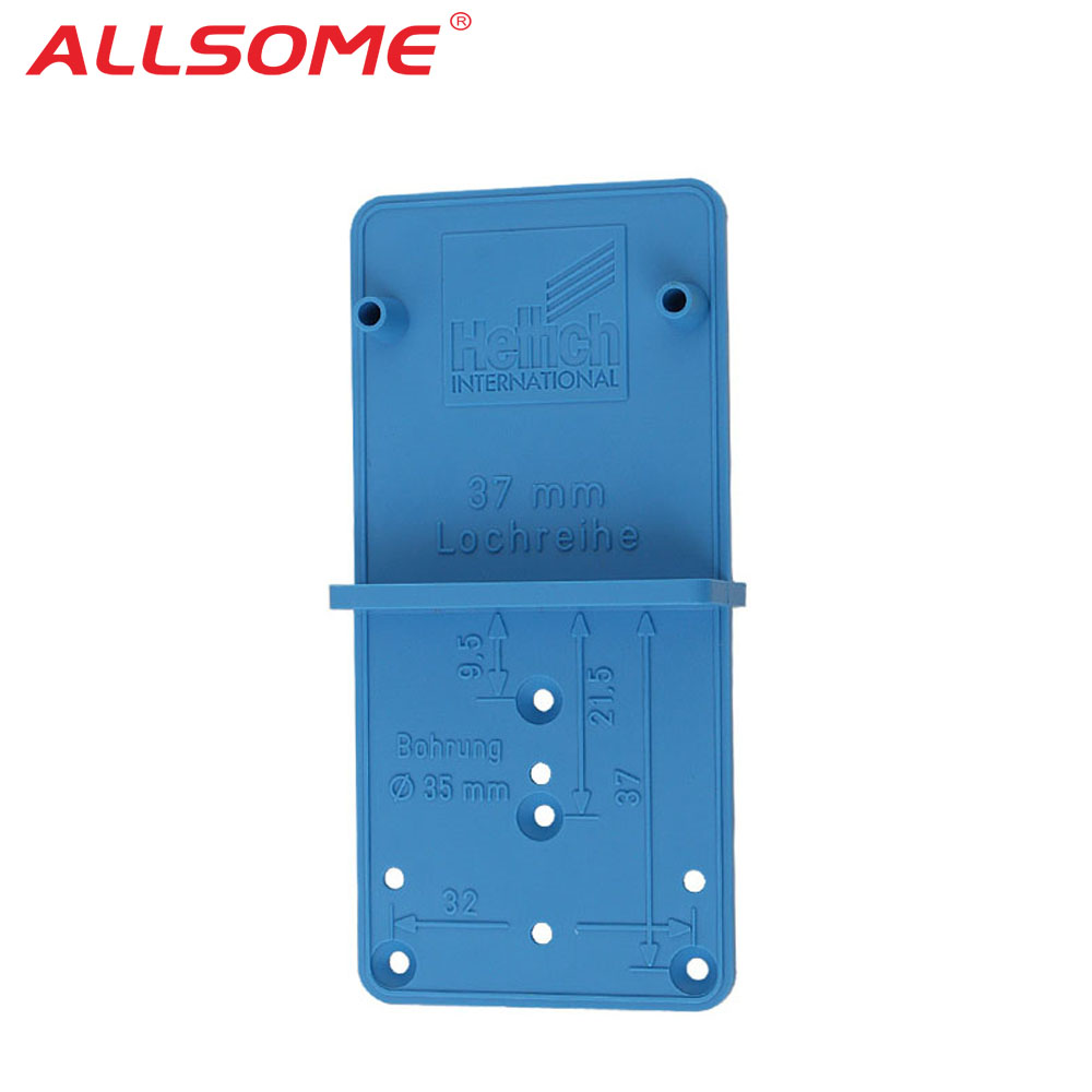 ALLSOME Hinge Hole Drilling Guide Locator Hole Opener template Door Cabinets DIY Tool For Woodworking Tool HT2614+