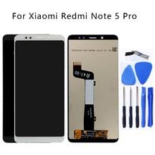 באיכות גבוהה עבור Xiaomi redmi הערה 5 LCD תצוגת מסך מגע digitizer עצרת החלפה עבור Redmi הערה 5 פרו LCD ערכת תיקון