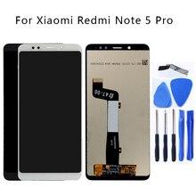 عالية الجودة ل شاومي redmi نوت 5 LCD عرض تعمل باللمس محول الأرقام الجمعية استبدال ل Redmi نوت 5 برو LCD طقم إصلاح
