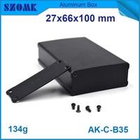 4pcs Lot Anodizing Aluminum Enclosure Project Case For Diy Pcb Broad In Black Color 27x66x100mm