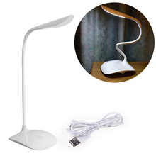 Work Well Useful Adjustable intensity USB Rechargeable LED Desk Table Lamp Reading Light Touch Switch Wholesale/retail