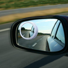 CDCOTN 2PCS Car Rearview Mirror Glass Small Round Blind spot 360 Rotation Interior Decoration Accessories Styling