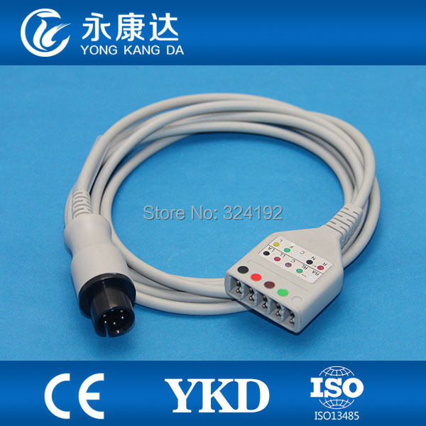 Free shipping compatible LL style 5-lead ECG trunk cable,medical ECG cableFree shipping compatible LL style 5-lead ECG trunk cable,medical ECG cable