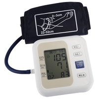 Professional Upper Arm Style Electronic Blood Pressure Monitor Live Voice With LCD Display Systolic Diastolic Pulse