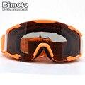 Adult Flexible Goggles Smoke Lens Orange Frame Motocross Goggles Glasses Sport Helmets Off Road Gafas for Motorcycle Dirt Bike