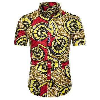 Social Shirt for Men National style Hip hop Blouse Men Slim fit Hawaiian Mens dress Shirts Summer New floral shirt summer flower social shirt for men hawaiian beach style blouse men s clothing fashion slim fit new