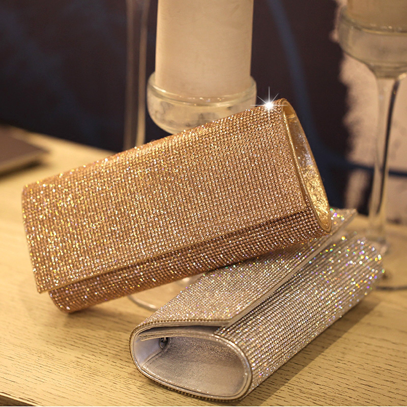 Famous Brand Design Luxury Crystals 2017 Women Evening Bags Designer Female Evening Clutch Bags Crystal Women Bag Luxury Brand