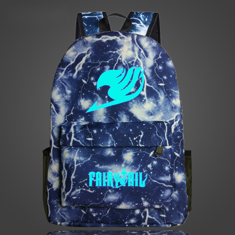 Cosplaylegend Fairy Tail School Bags For Teenagers Mens Backpack Night Lights bag ...