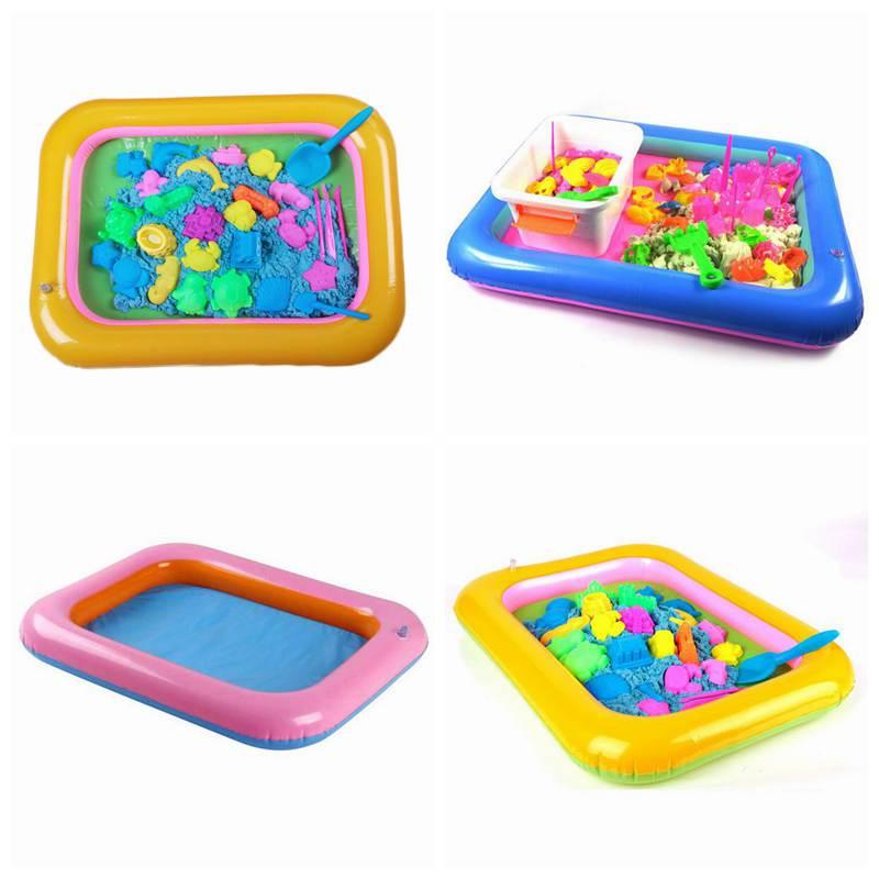 Многофункциональный надувные песок лоток надувная песочница для Для детей Крытый игровой песок, глина Цвет грязи игрушки аксессуары