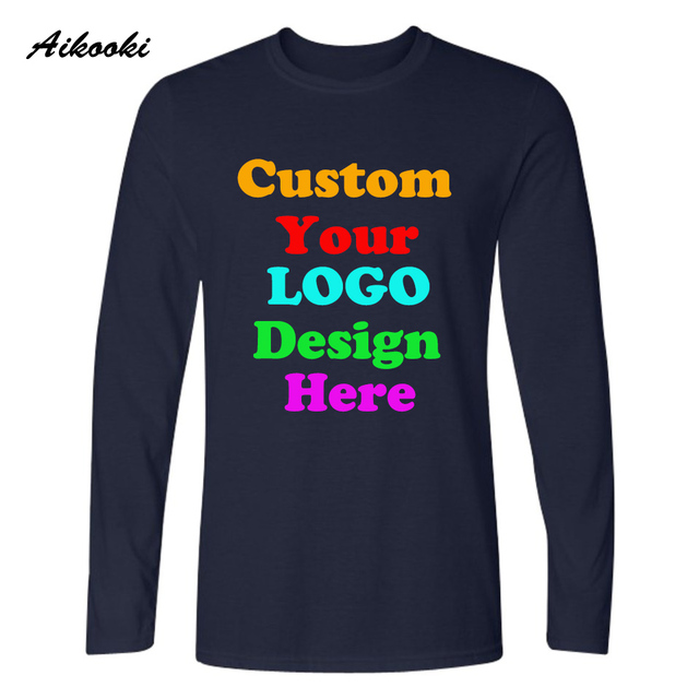 Custom Long T Shirt Logo Text Photo Print Men Women Kid Personalized Team Family Customized T Shirt Promotion Ad Apparel Top Tee Custom T Shirt Long T Shirtt Shirt Logo Aliexpress