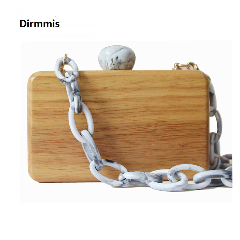 Brand Fashion New Women Luxury Evening Bag Ink Cute Round Clasp Wood Should bags Woman Lovely Solid Wooden Casual Chain ClutchBrand Fashion New Women Luxury Evening Bag Ink Cute Round Clasp Wood Should bags Woman Lovely Solid Wooden Casual Chain Clutch