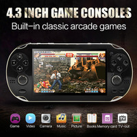 4.3 inch PSP handheld game console dual rocker built in hundred games support photo can play mp4mp5 e book game download