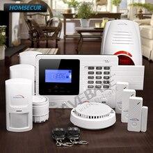 HOMSECUR Wireless GSM SMS Home Security Burglar Alarm System With Flash Siren