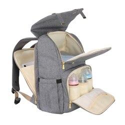 Bolsa de pañales para bebés Sunveno, Mochila de viaje de alta capacidad, Mochila para el cuidado del bebé, Bolsa de pañales para cochecito de maternidad, Mochila de maternidad