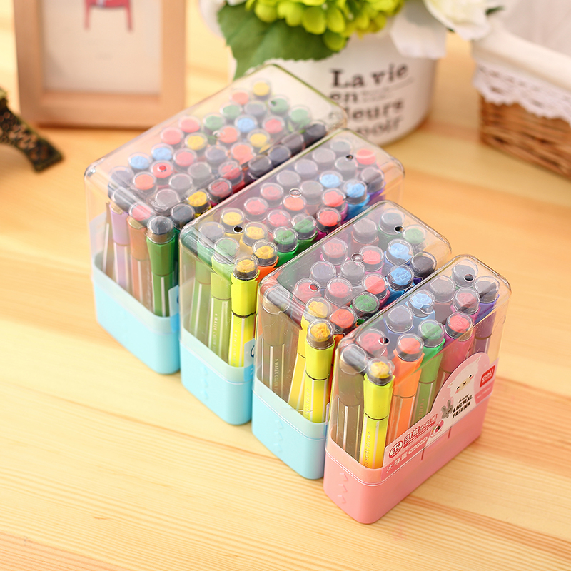 12/18/24/36Pcs/Lot Deli Non-toxic Washable Watercolour Pen Art Markers for Children Free Shipping