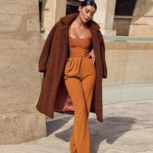 Top spodnie brązowy zestaw