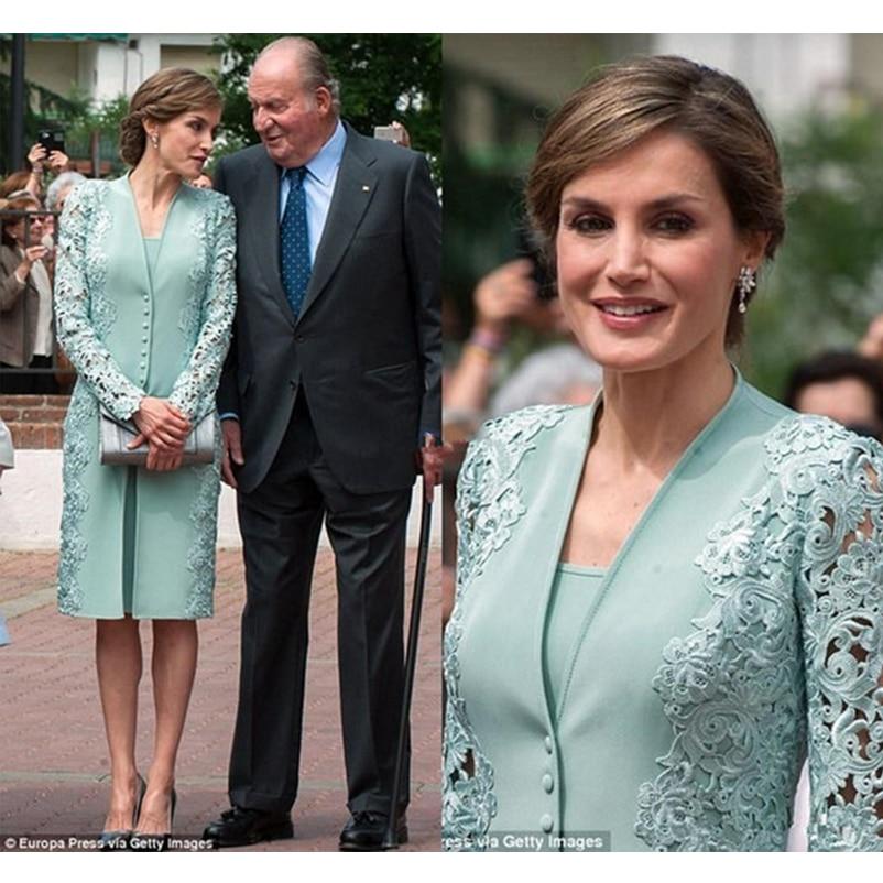 Aqua Mother Of The Bride Dresses Mother Of Groom Formal Suit Long Jacket Knee Length Fashion Custom Make Special Occasion Dress