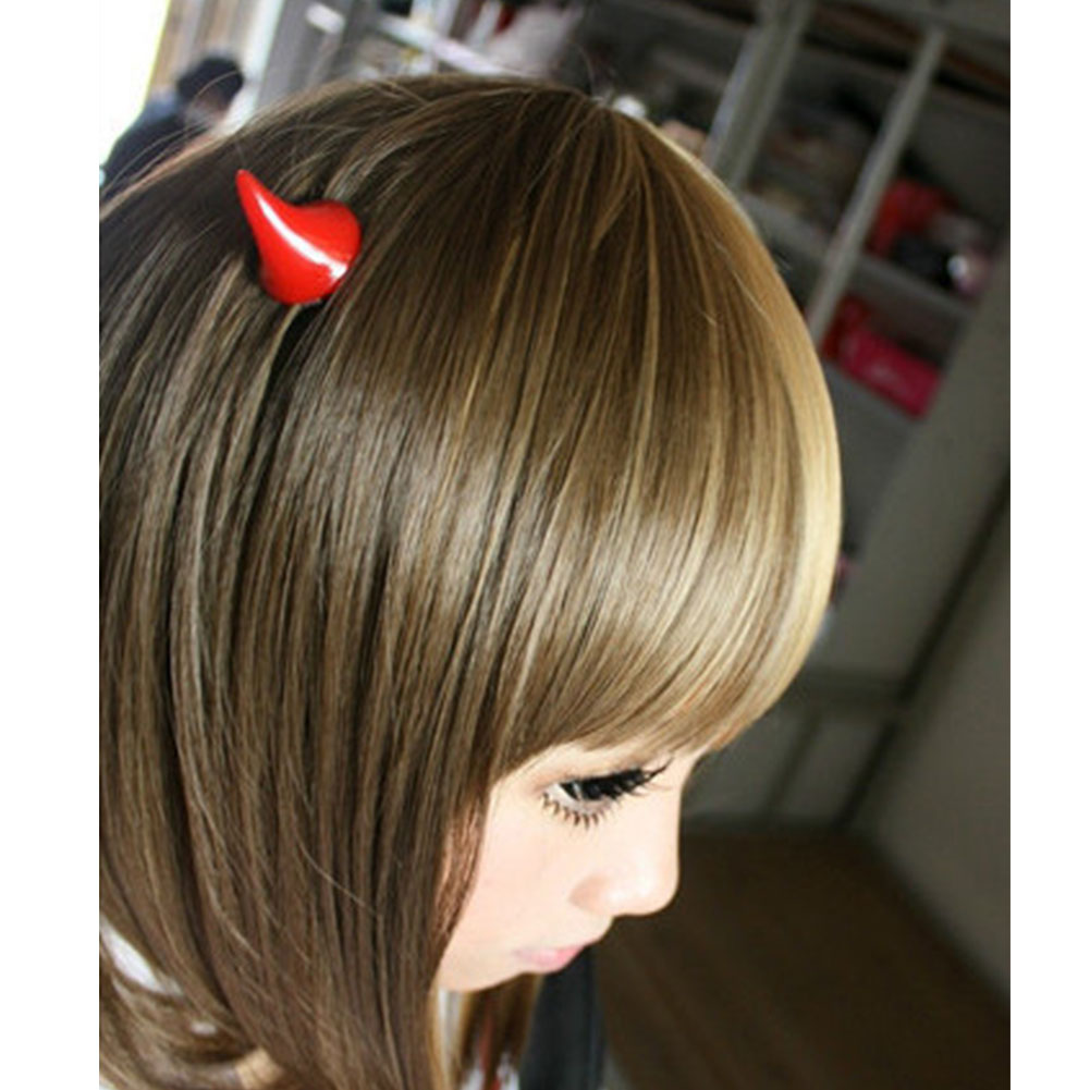 1 Paar Chic Halloween Stereo Devil Horns Ears Clip Hairpin Corner Hair/_Jewelry