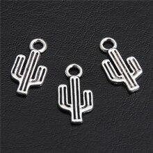 100 шт тибетский серебряный кактус подвески для ожерелья браслета ювелирных изделий DIY ручной работы A2811