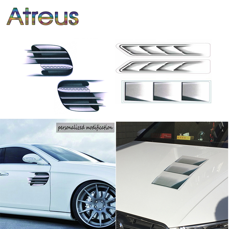 Atreus 3D Simulation Car Styling Stickers For BMW E90 F30 F10 Audi A3 A6 C5 C6 Opel Insignia Alfa Romeo Ssangyong Accessories ...