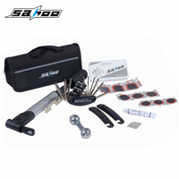 SAHOO Multifunctional Bike Repair Tool Bag Mini Pump Patch Kit Tire Lever MTB Bicycling Cycling Riding