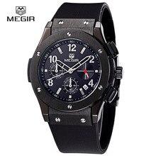 Megir hot marque quartz montres hommes relojes chronographe heures homme montre décontracté pour les hommes mode horloge sport montre – bracelet 3002 M