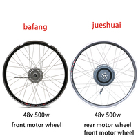 Bafang Electric Bike Kit 48v 500w Motor Wheel 48V Brushless Hub Motor Wheel 20 700C Front Rear Electric Bicycle Conversion Kit